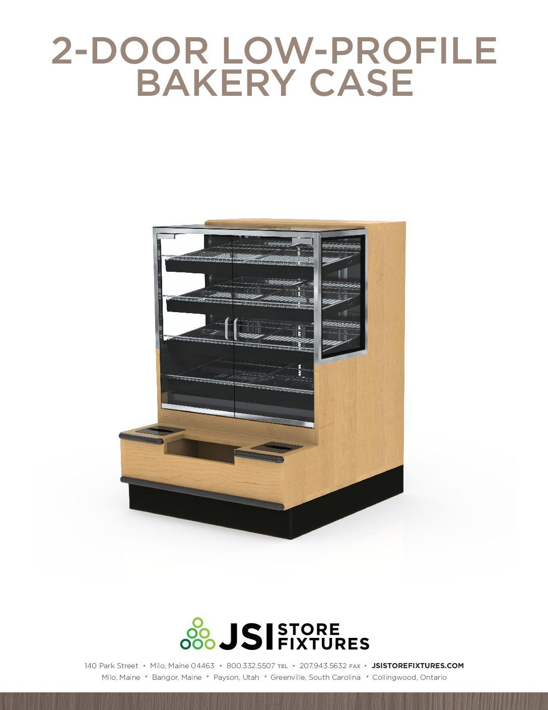 2-Door Low-Profile Bakery Case Spec Sheet