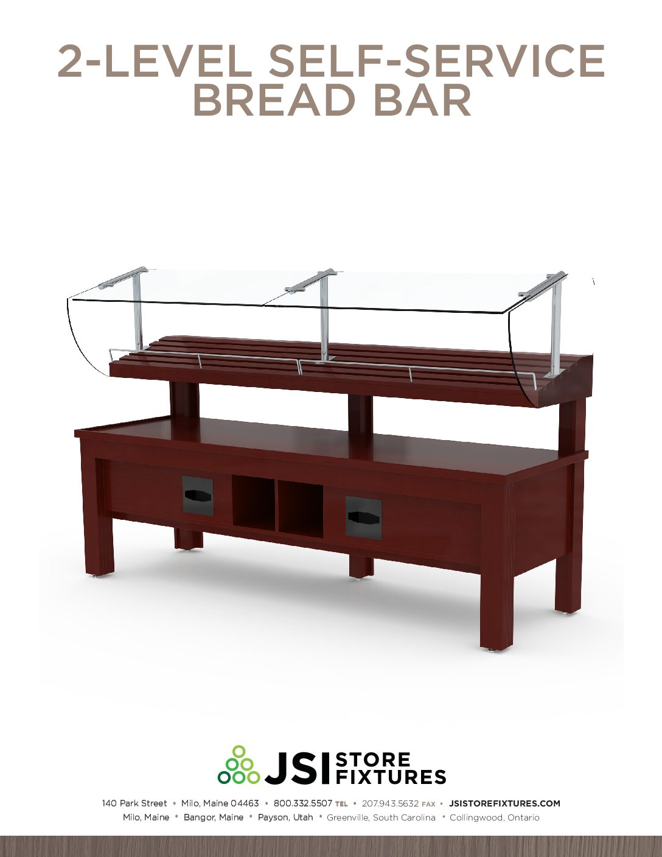 2-Level Self-Service Bread Bar Spec Sheet