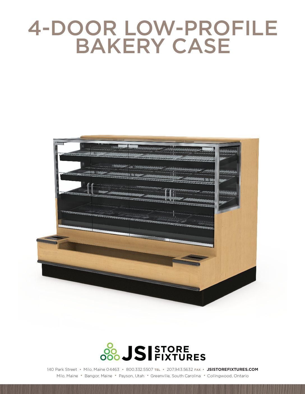 4-Door Low-Profile Bakery Case Spec Sheet