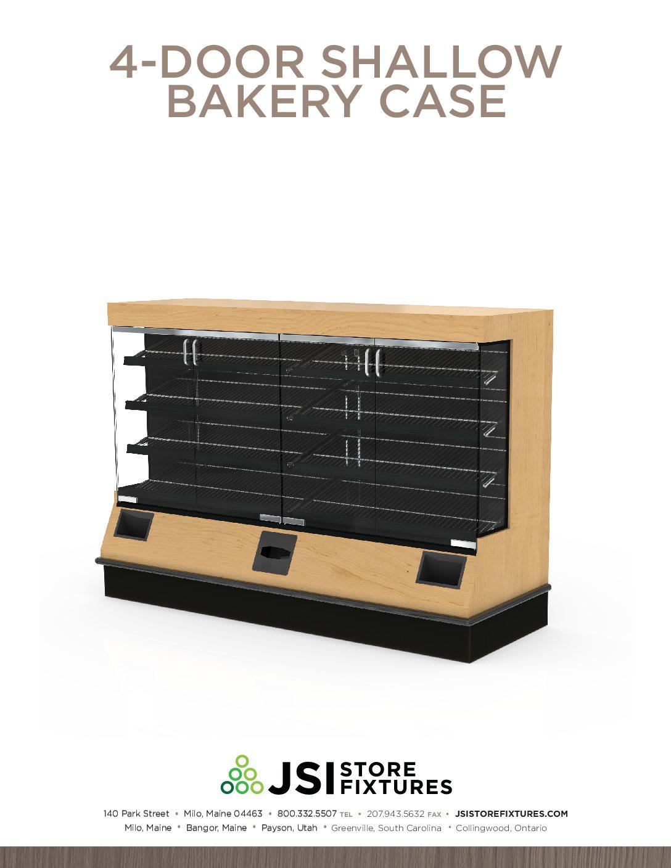 4-Door Shallow Bakery Case Spec Sheet