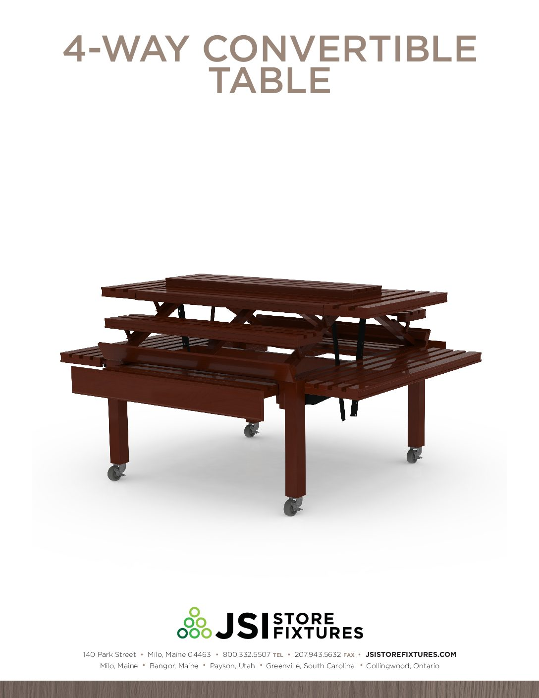 4-Way Convertible Table Spec Sheet