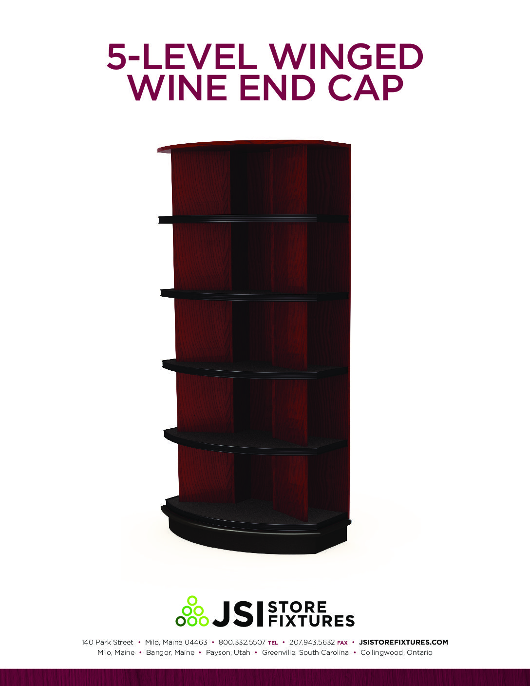 5-Level Winged Wine End Cap