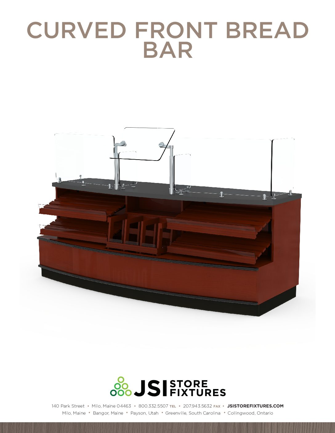Curved Front Bread Bar Spec Sheet