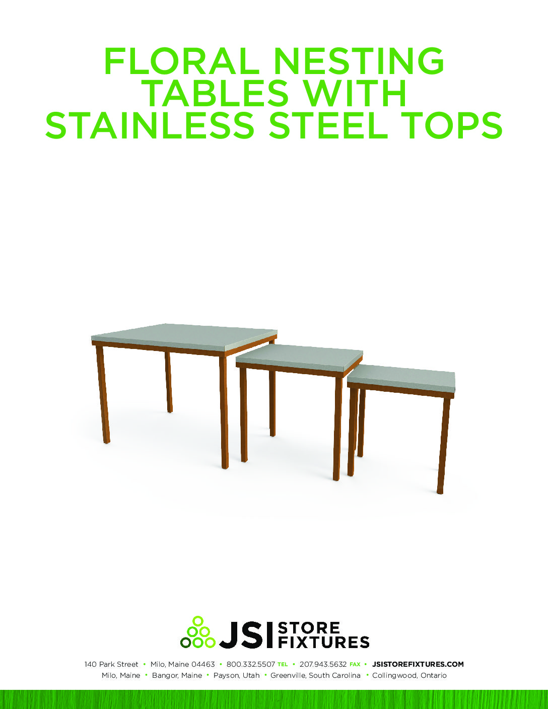 Floral Nesting Tables Spec Sheet