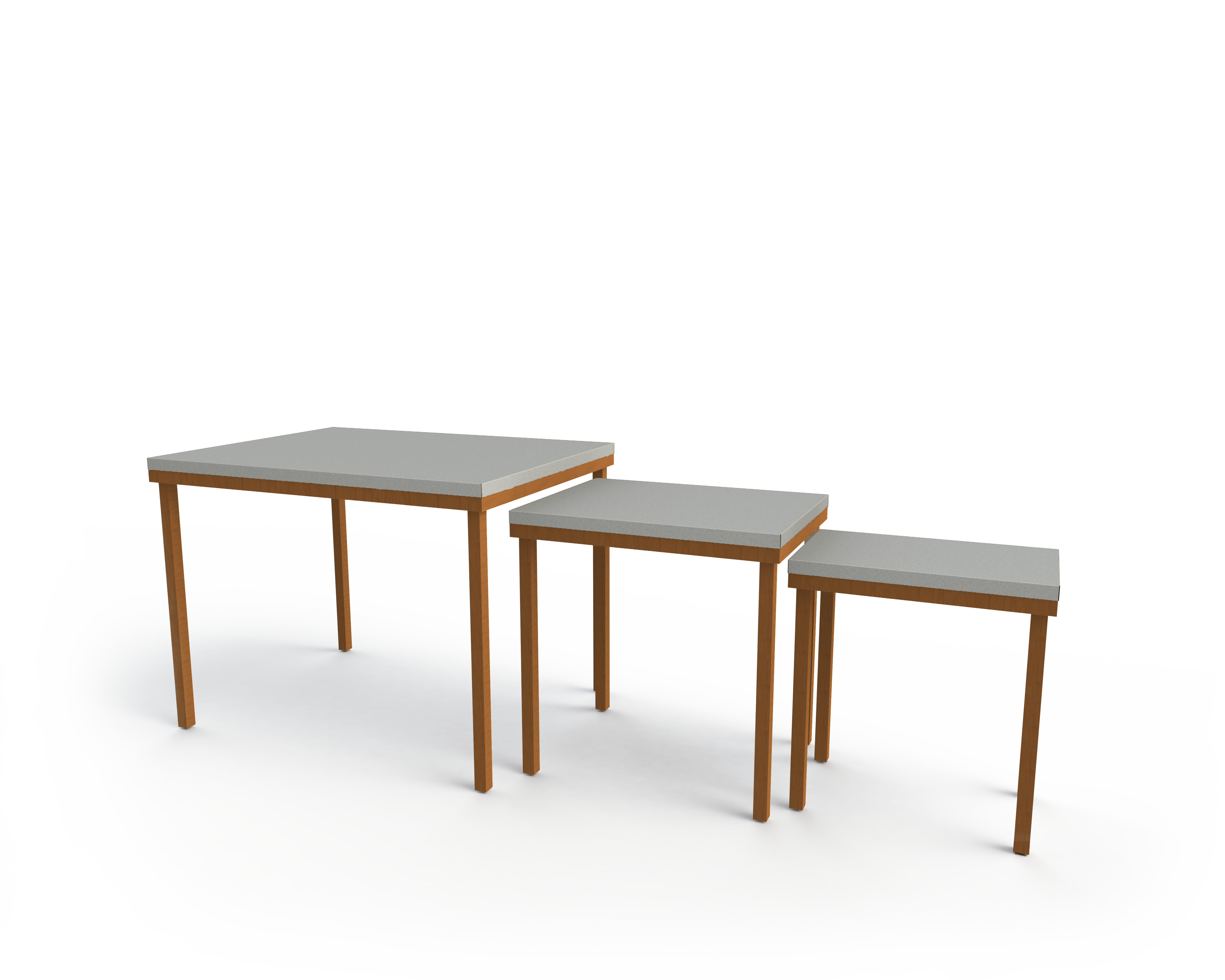 Floral Nesting Tables w SS Tops