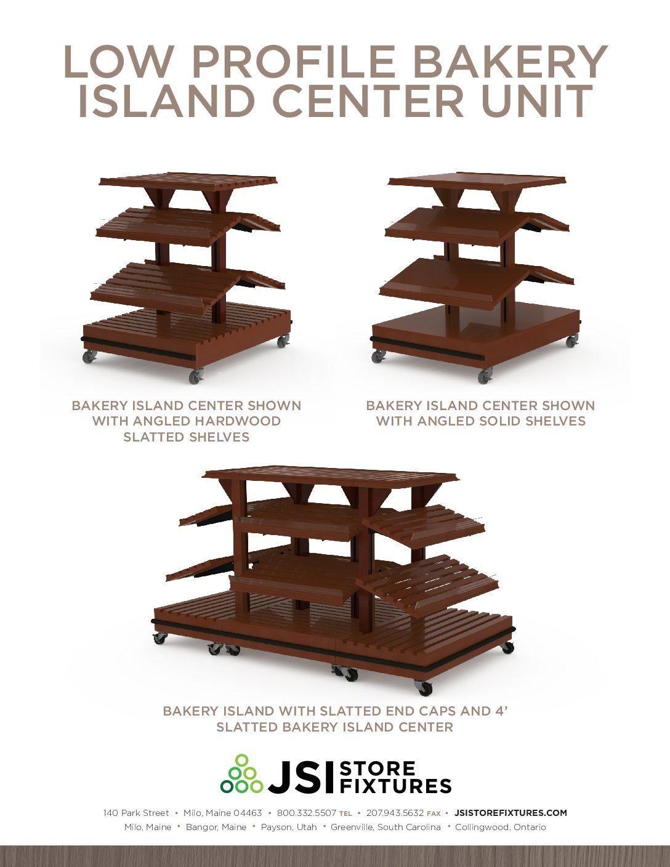 Low-Profile Bakery Island Center Unit Spec Sheet