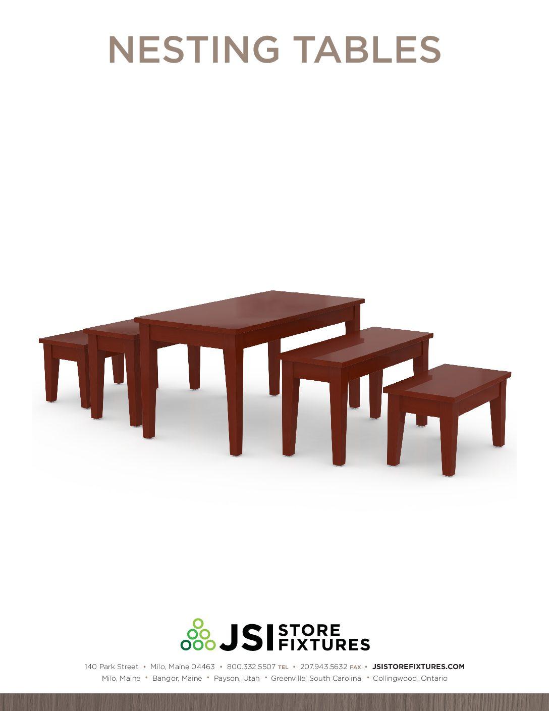 Nesting Tables Spec Sheet