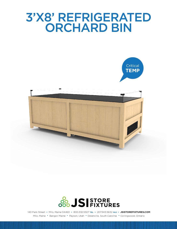 3'x8' Refrigerated Orchard Bin Spec Sheet