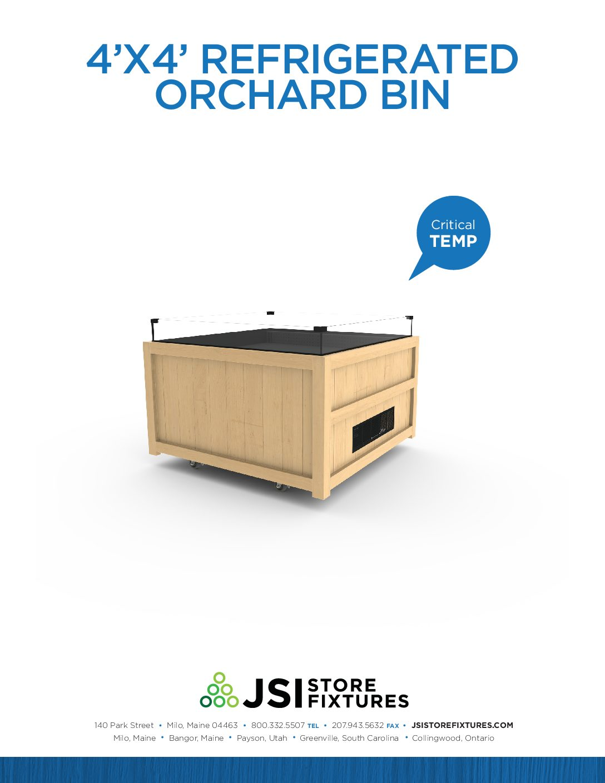 4'x4' Refrigerated Orchard Bin Spec Sheet