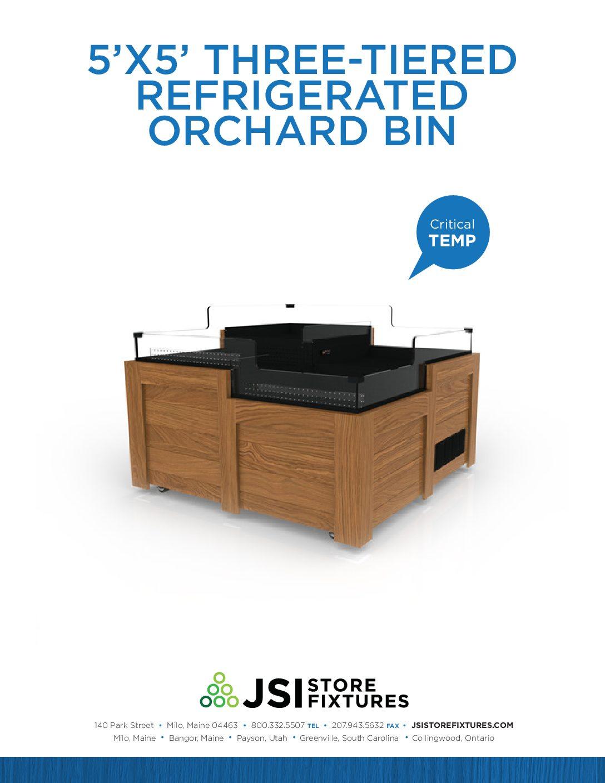 5'x5' Three-Tiered Refrigerated Orchard Bin Spec Sheet