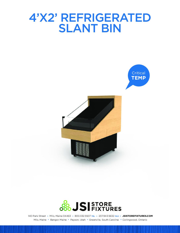 4'x2' Refrigerated Slant Bin Spec Sheet