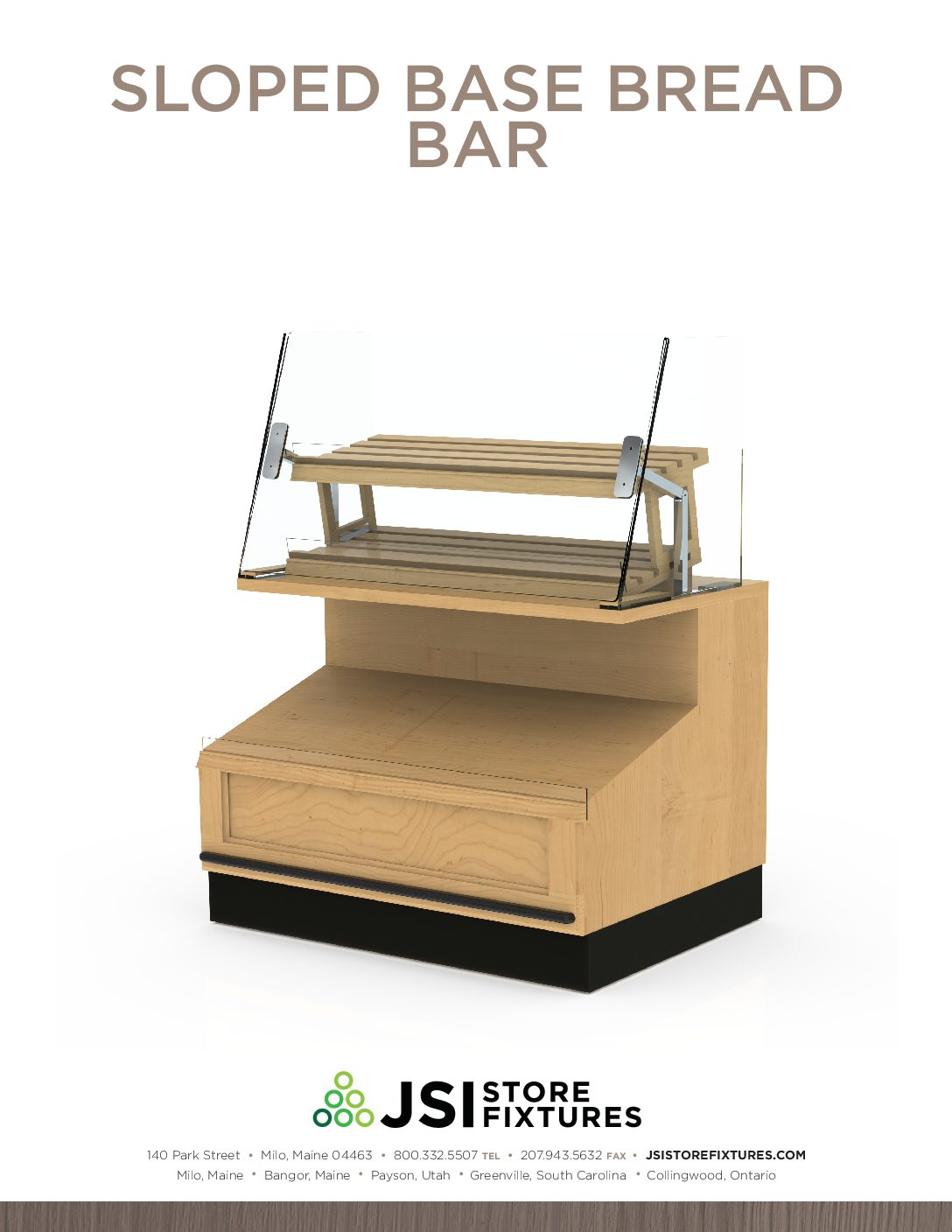 Sloped Base Bread Bar Spec Sheet