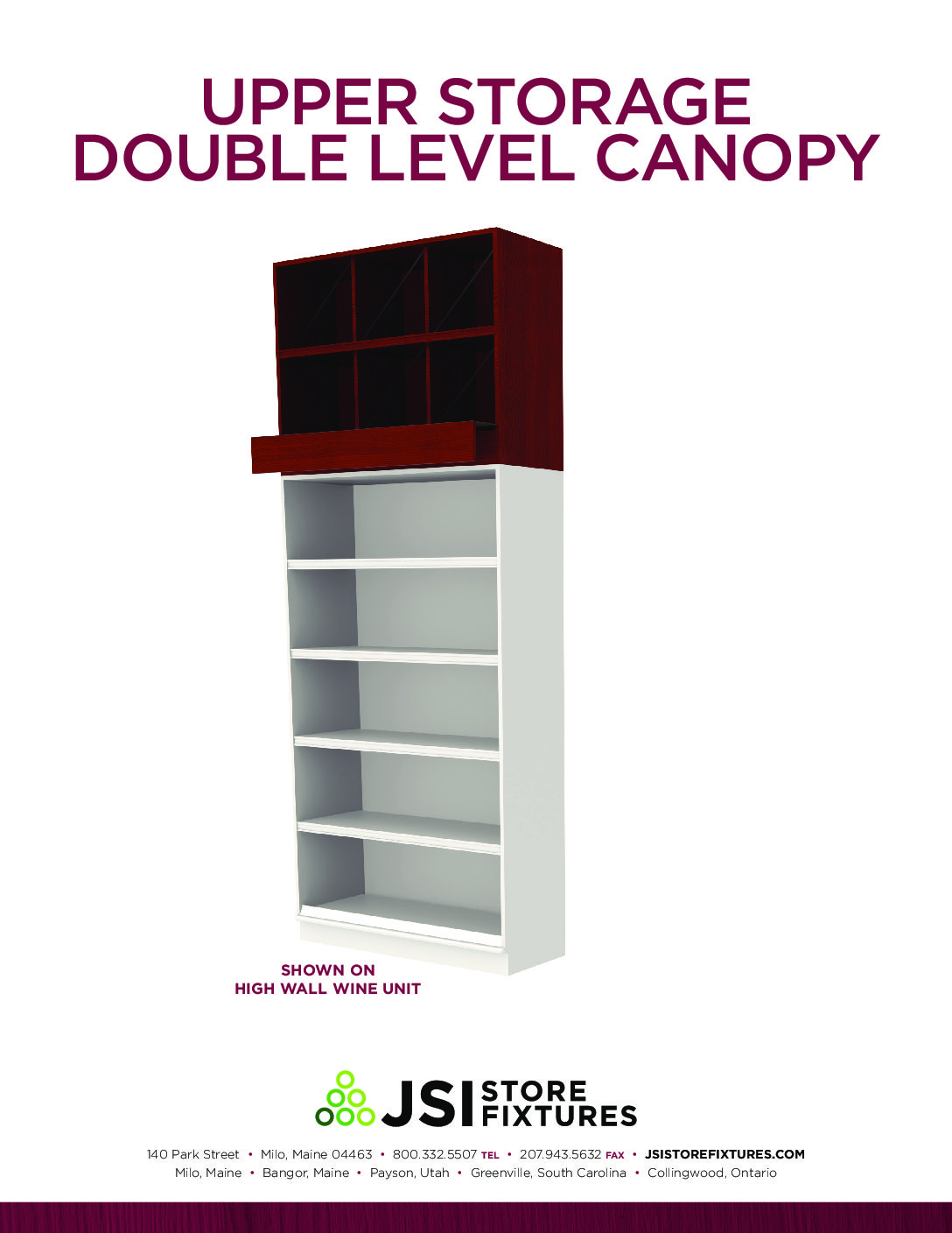 Upper Storage Double Level Canopy