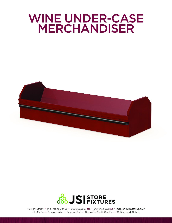 Wine Under-Case Merchandiser Spec Sheet