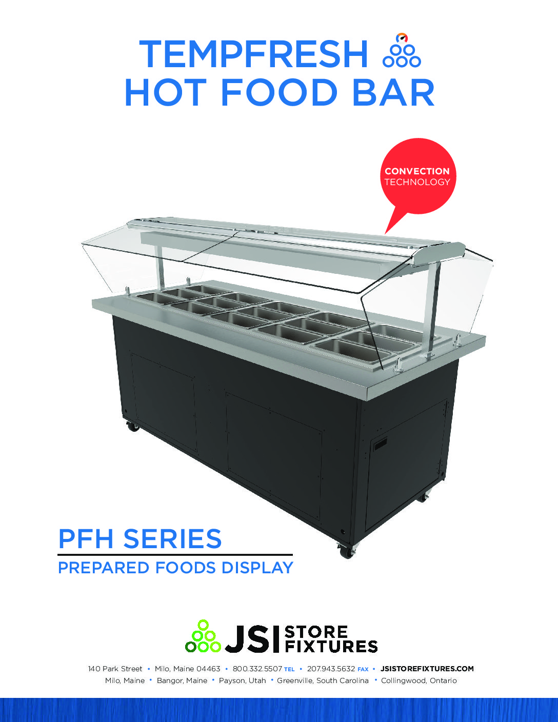 TempFresh Hot Convection Island Spec Sheet