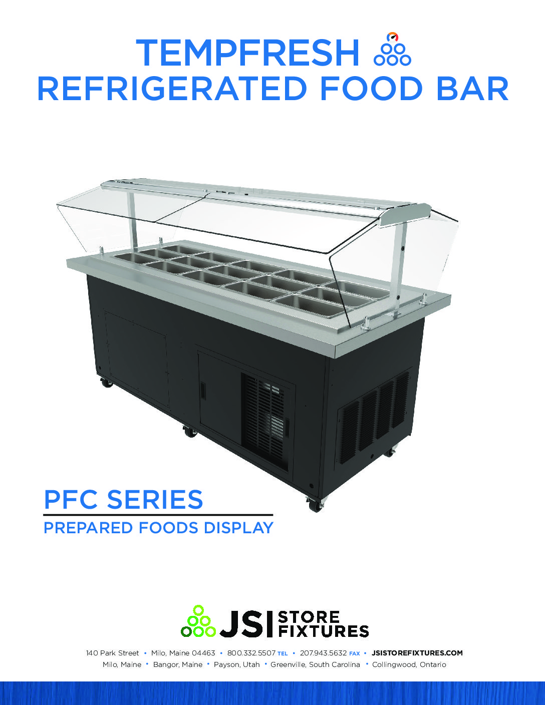 TempFresh Refrigerated Island Spec Sheet