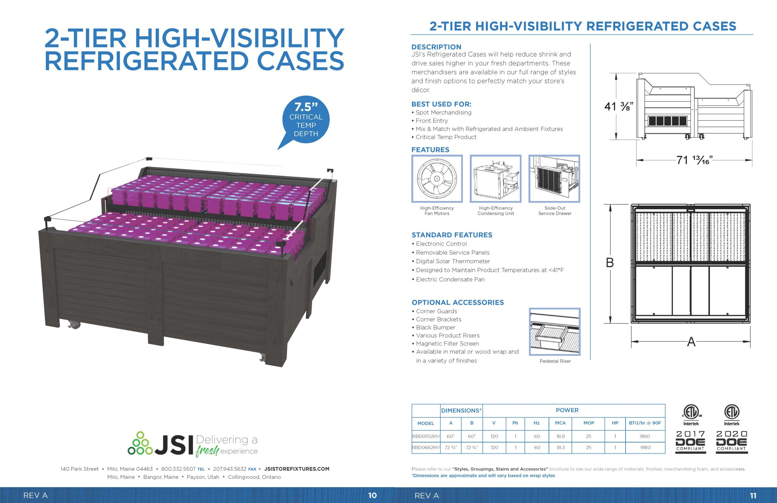 2-Tier High-Visibility Refrigerated Cases