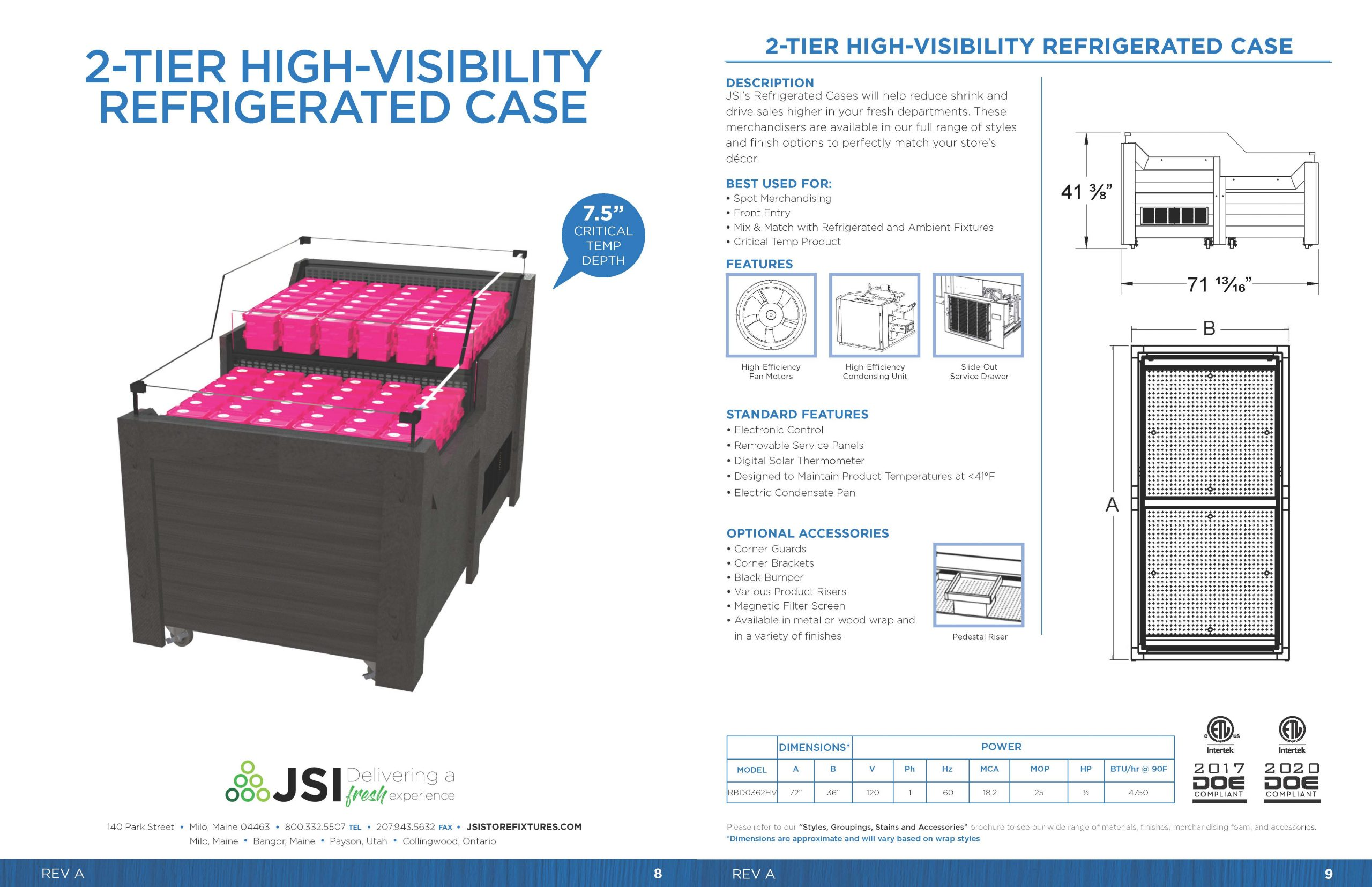 2-Tier High-Visibility Refrigerated Case