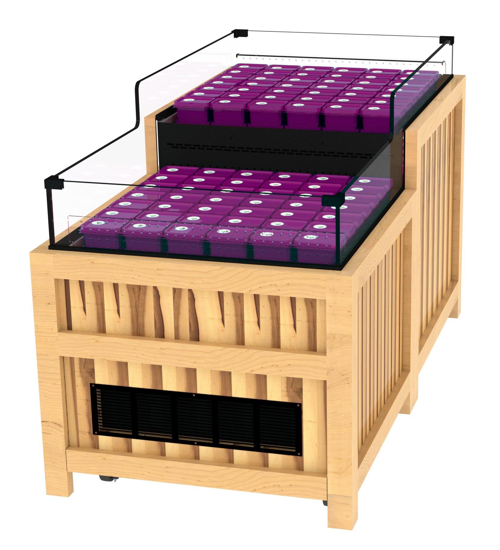 2-Tier Refrigerated Case