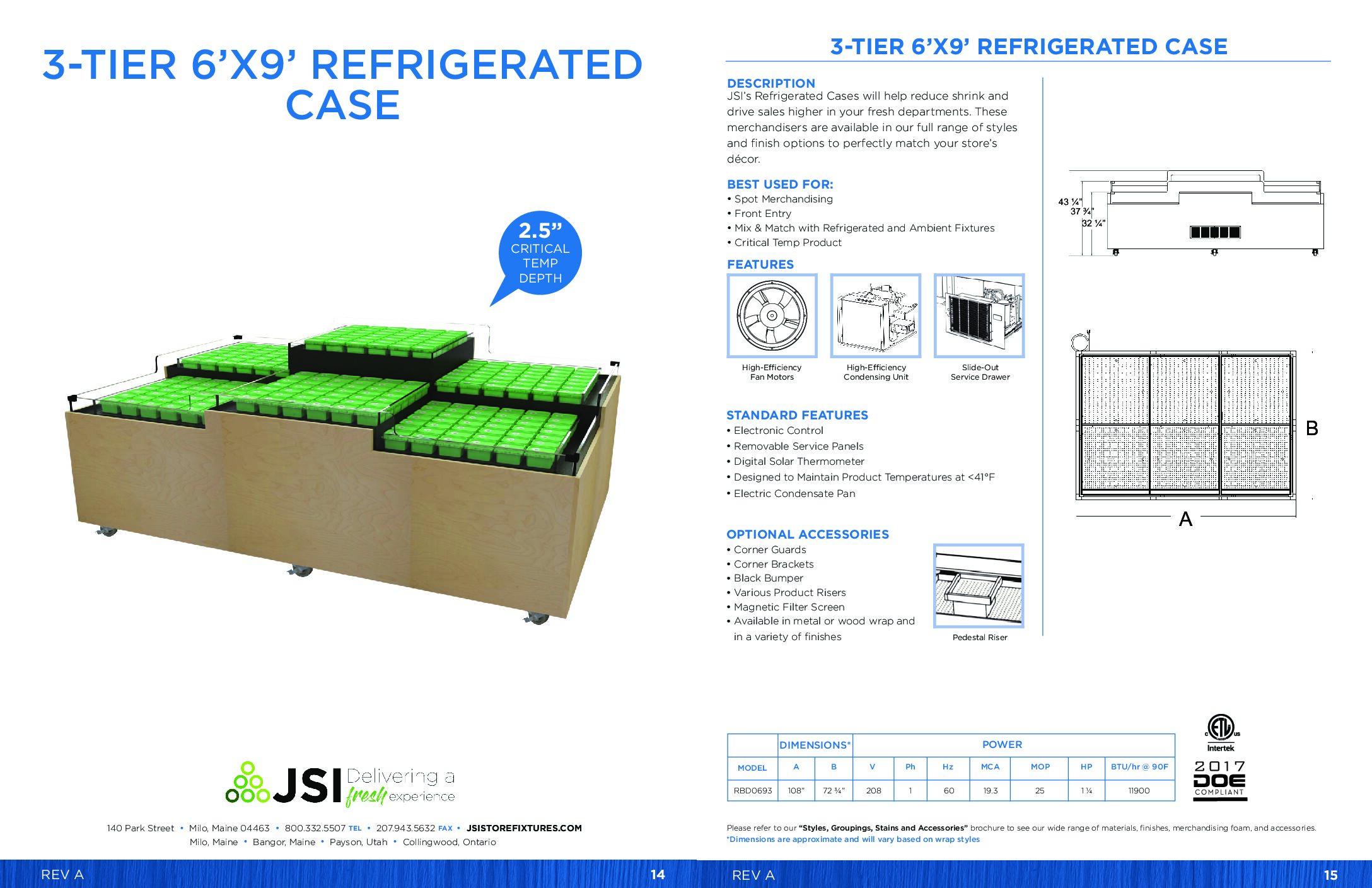 3-Tier 6x9 Refrigerated Case (PDF)
