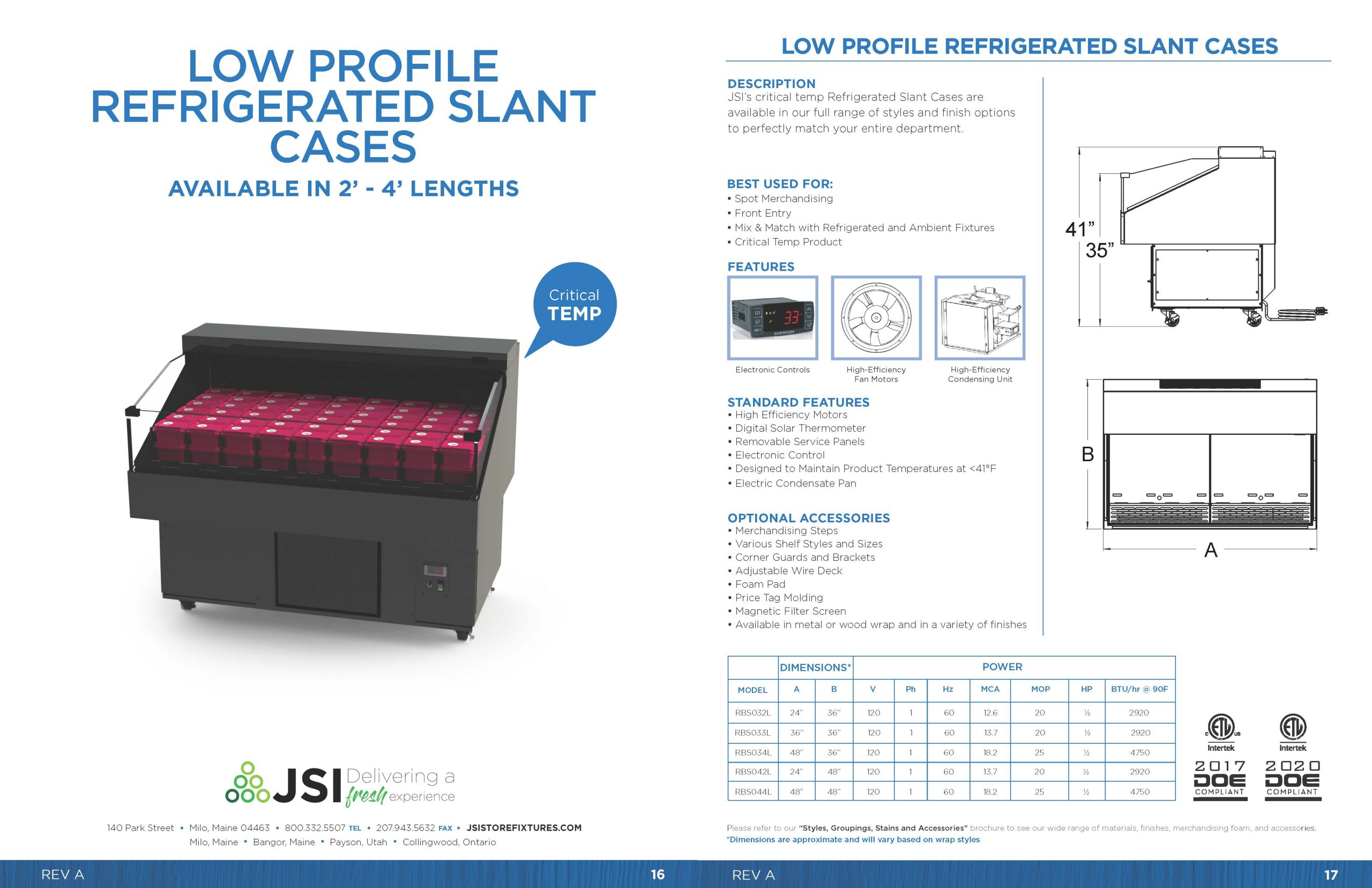 Low Profile Refrigerated Slant Cases