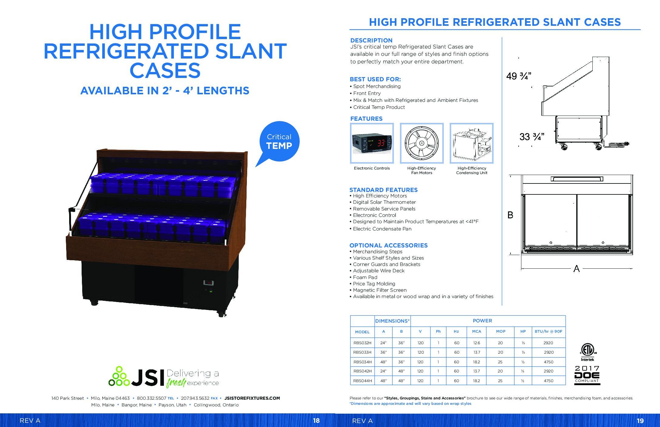 High Profile Refrigerated Slant Cases (PDF)
