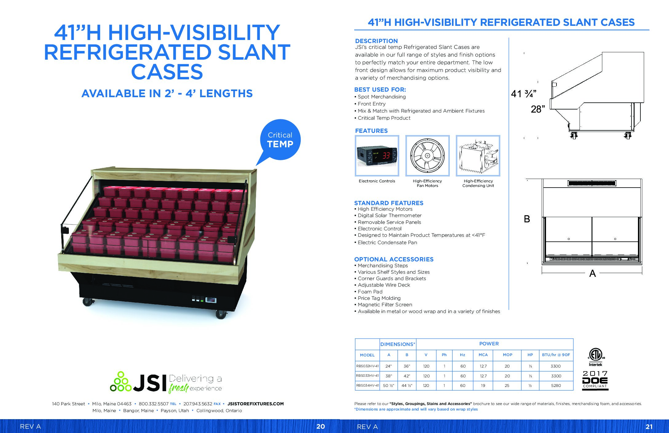 41in High-Visibility Refrigerated Slant Cases (2ft-4ft) (PDF)