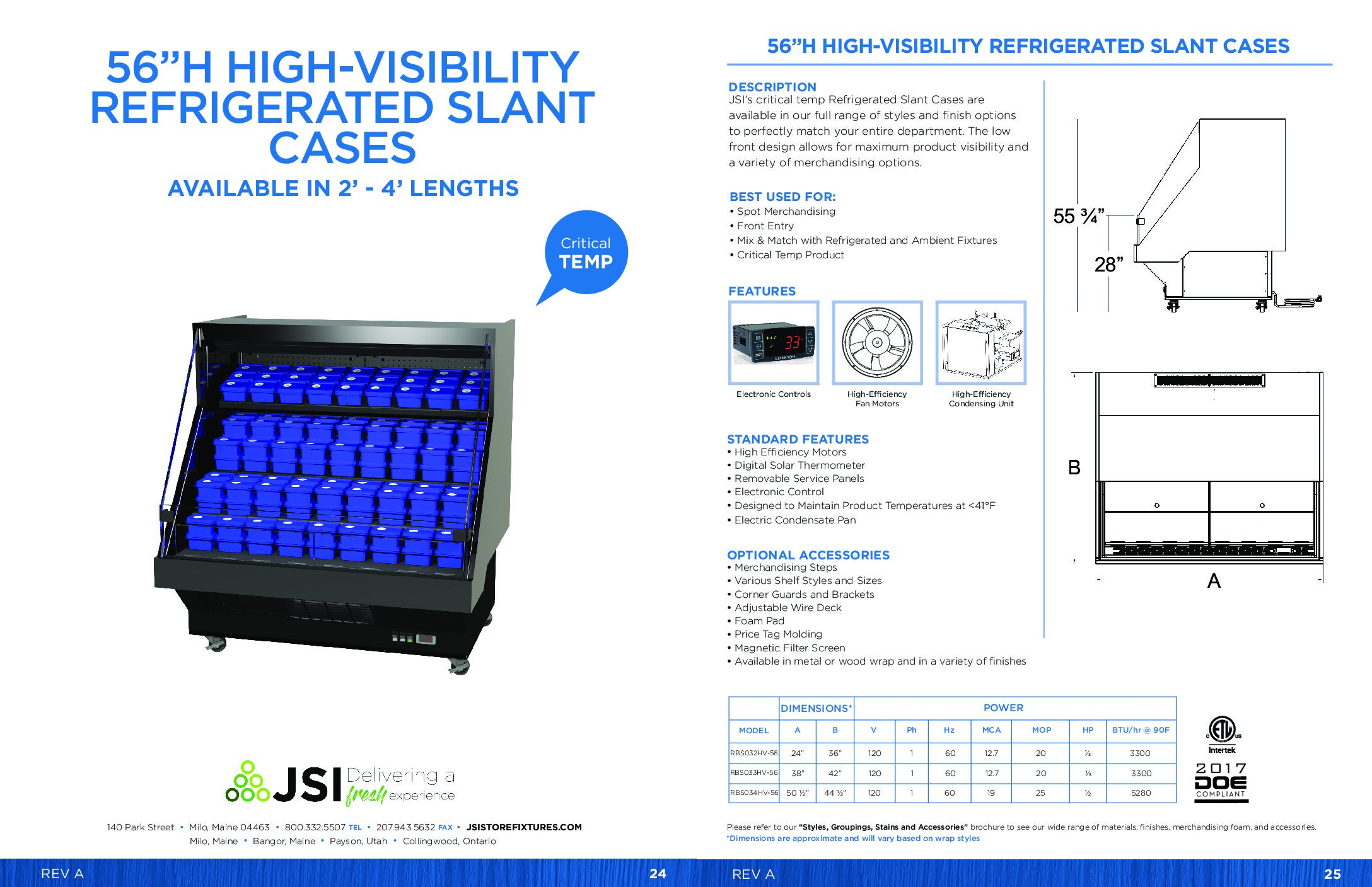 56in High-Visibility Refrigerated Slant Cases 2ft-4ft (PDF)