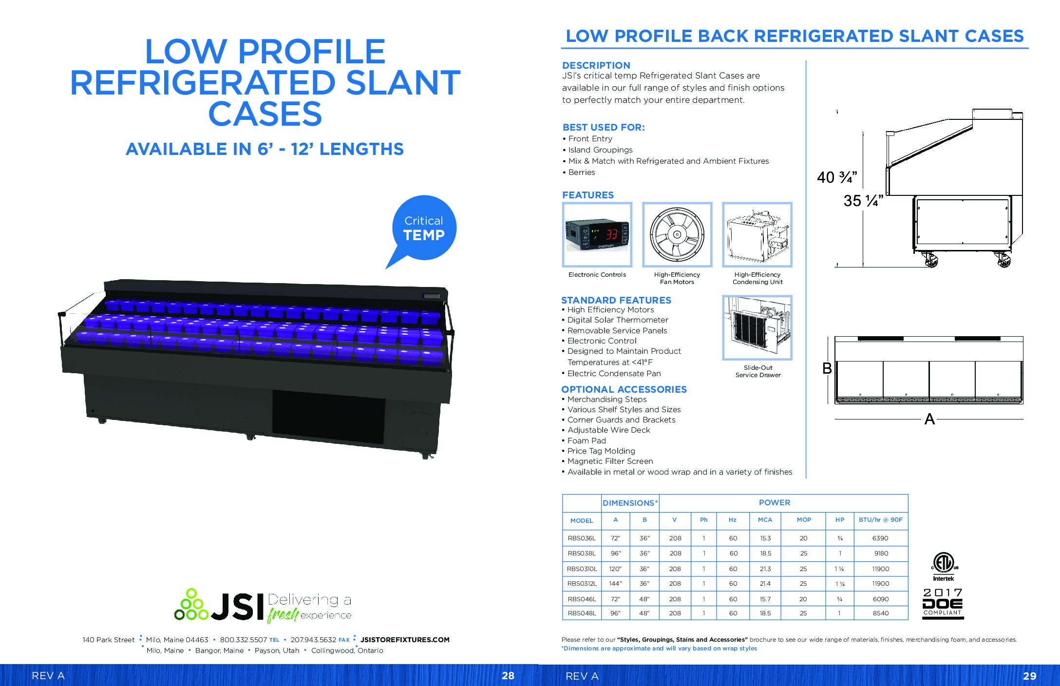 Low Profile Refrigerated Slant Cases 6ft-12ft (PDF)
