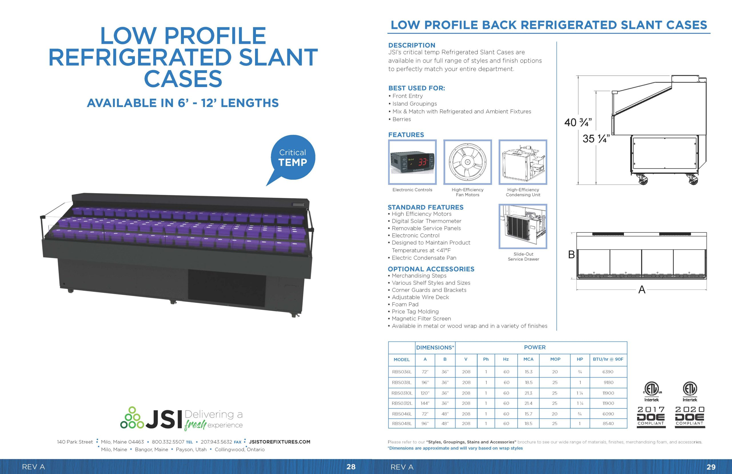 Low Profile Refrigerated Slant Cases_6ft-12ft