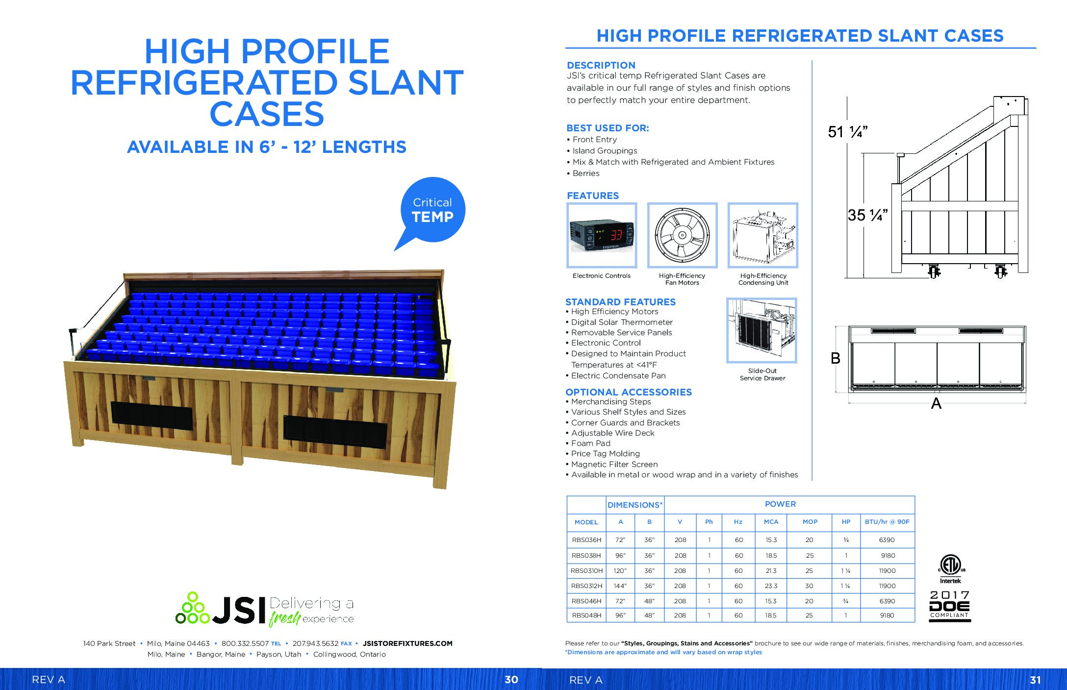 High Profile Refrigerated Slant Cases 6ft-12ft (PDF)