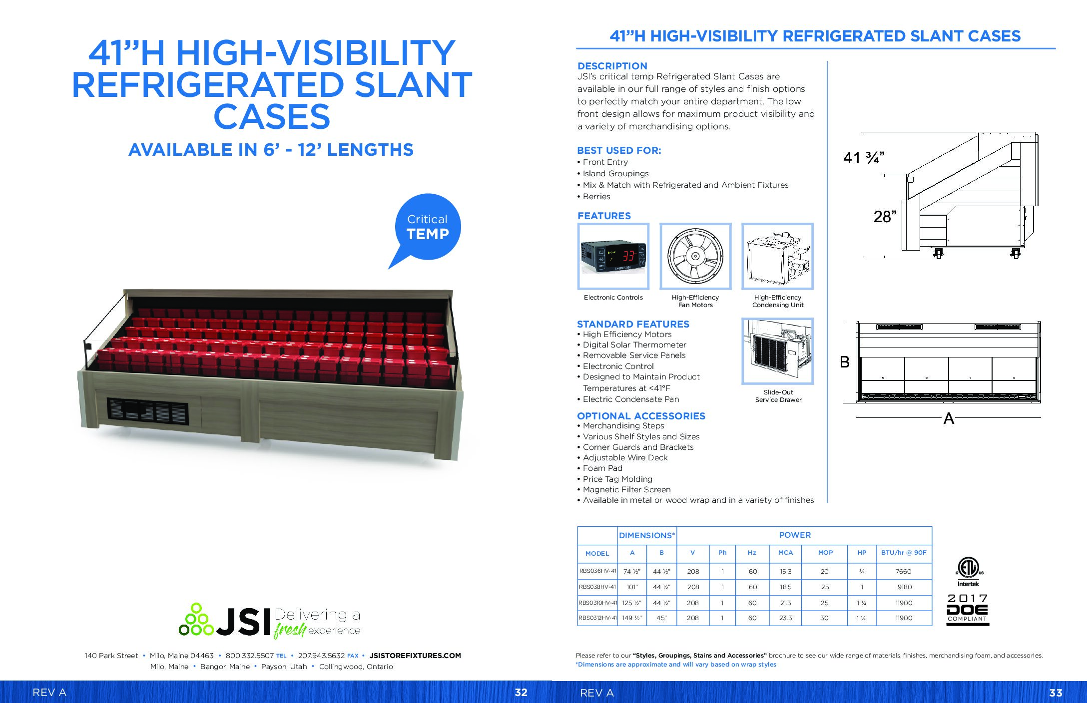 41in High-Visibility Refrigerated Slant Cases 6ft-12ft (PDF)