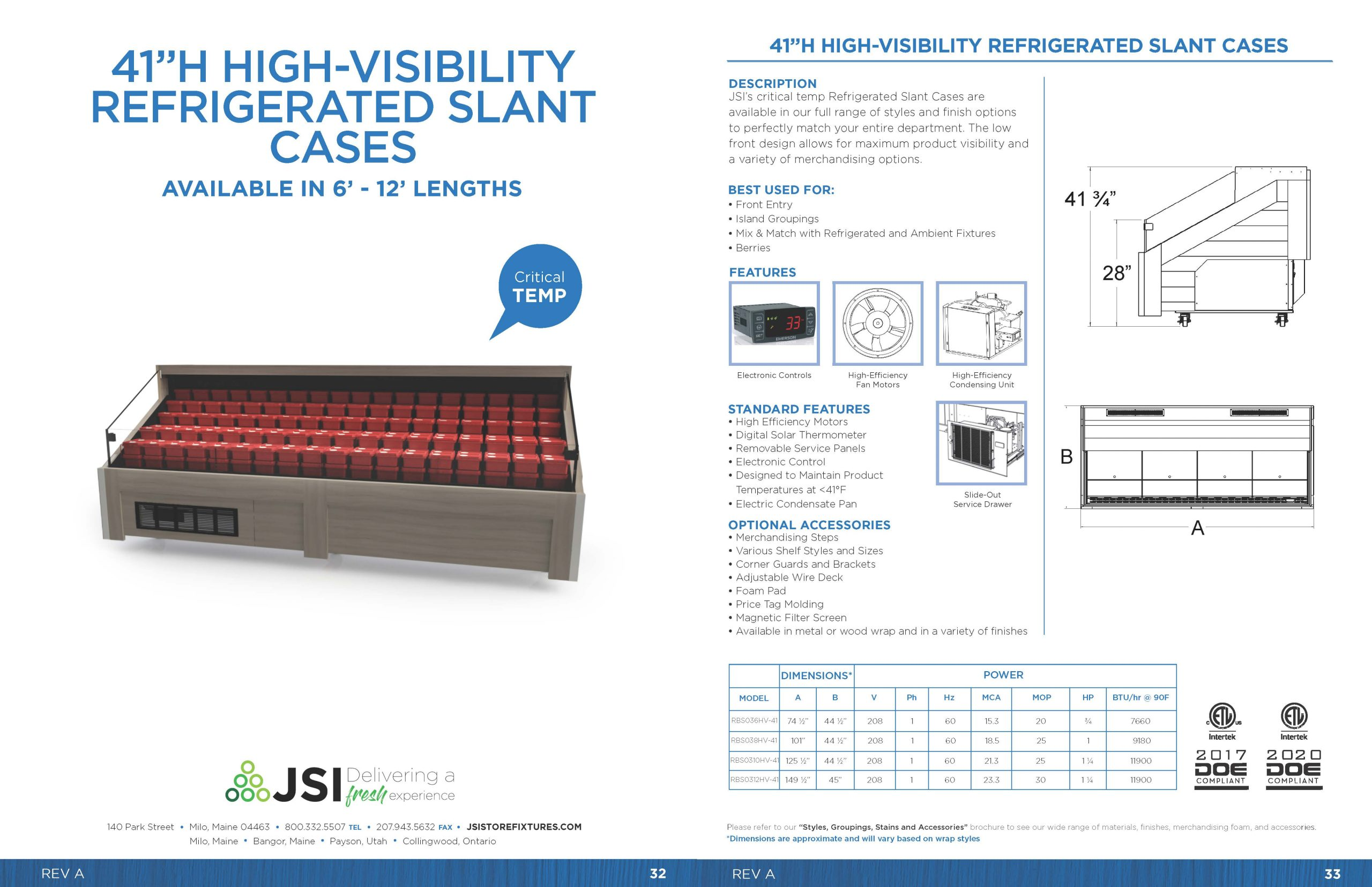 41in High-Visibility Refrigerated Slant Cases_6ft-12ft