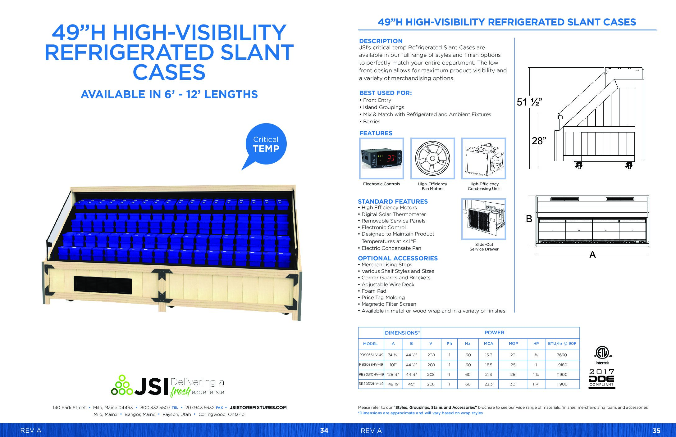 49in High-Visibility Refrigerated Slant Cases 6ft-12ft (PDF)