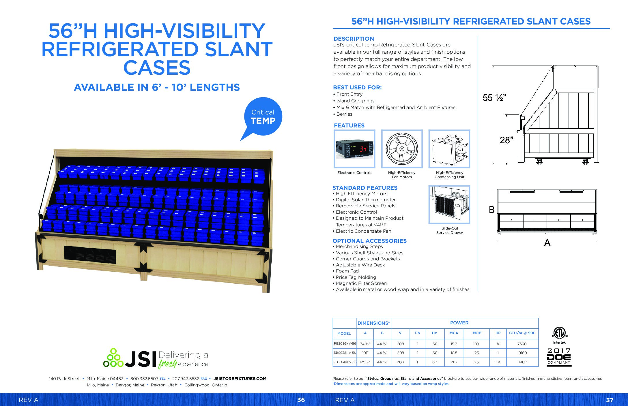 56in High-Visibility Refrigerated Slant Cases 6ft-10ft (PDF)