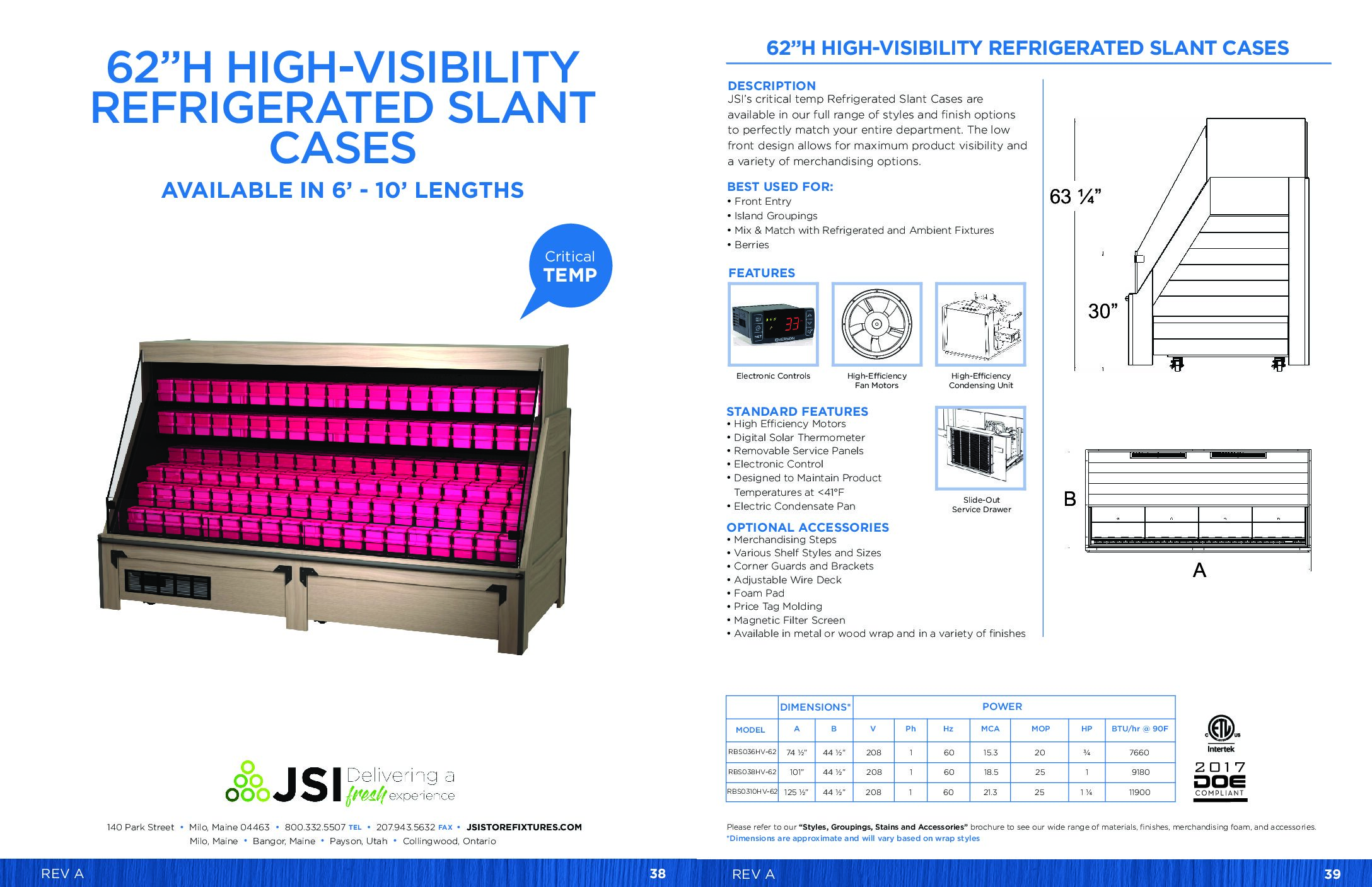 62in High-Visibility Refrigerated Slant Cases 6ft-10ft (PDF)