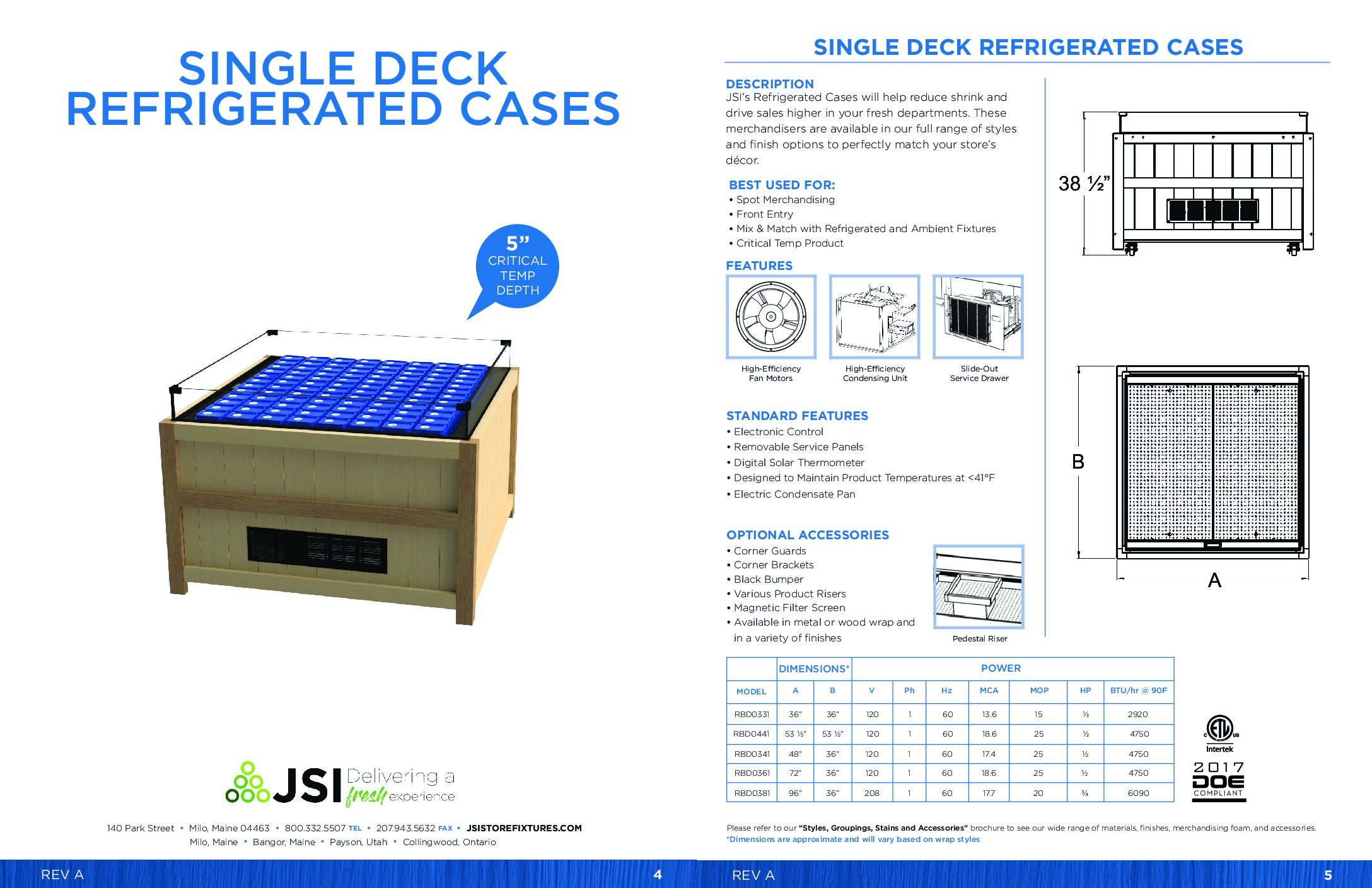 Single Deck Refrigerated Cases (PDF)