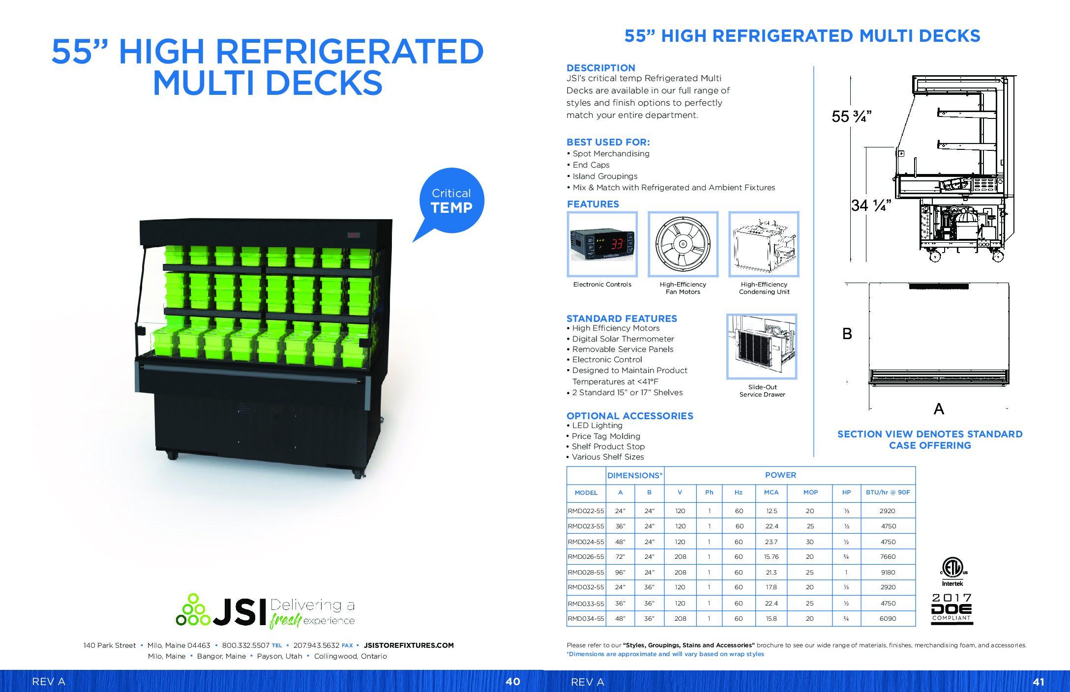 55in High Refrigerated Multi Decks (PDF)