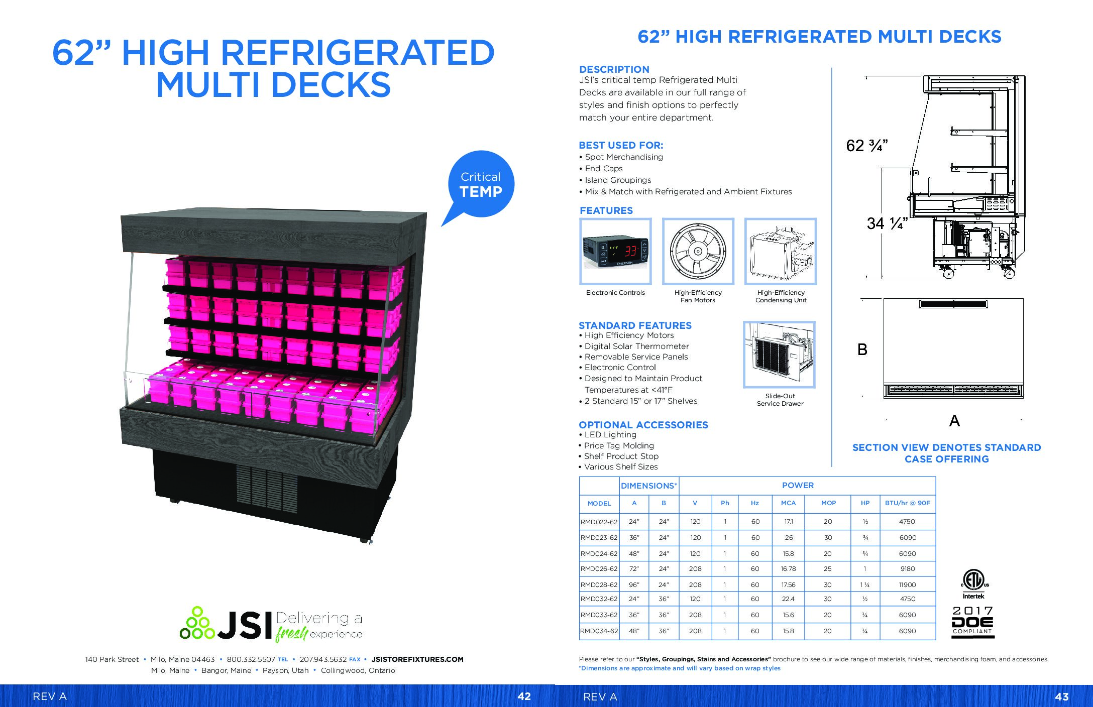 62in High Refrigerated Multi Decks (PDF)