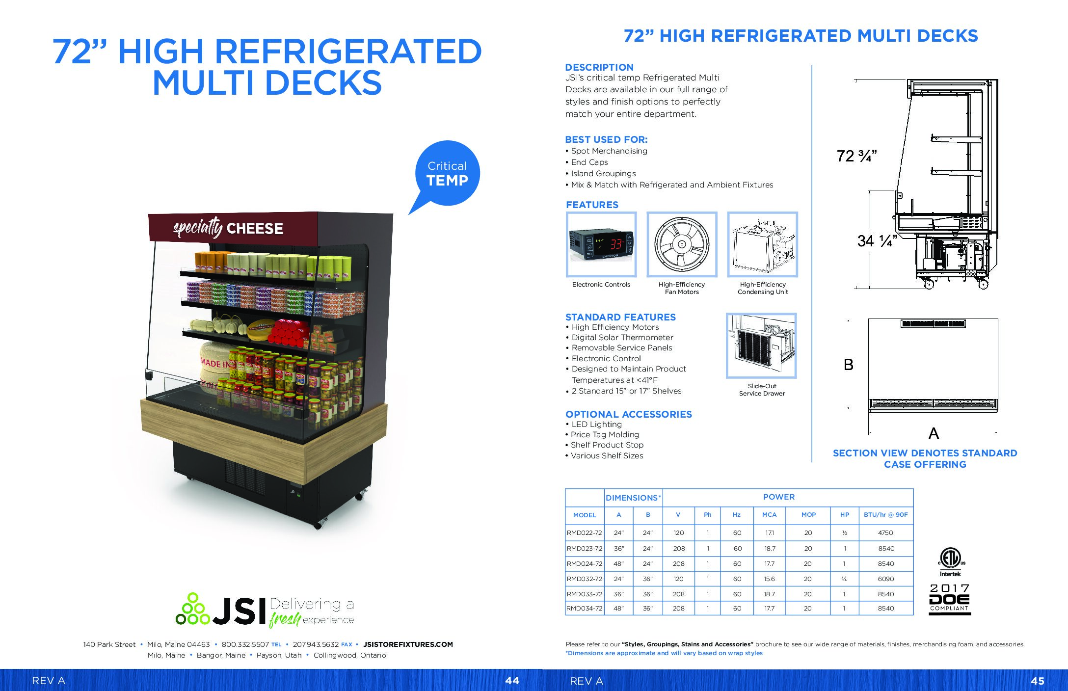 72in High Refrigerated Multi Decks (PDF)