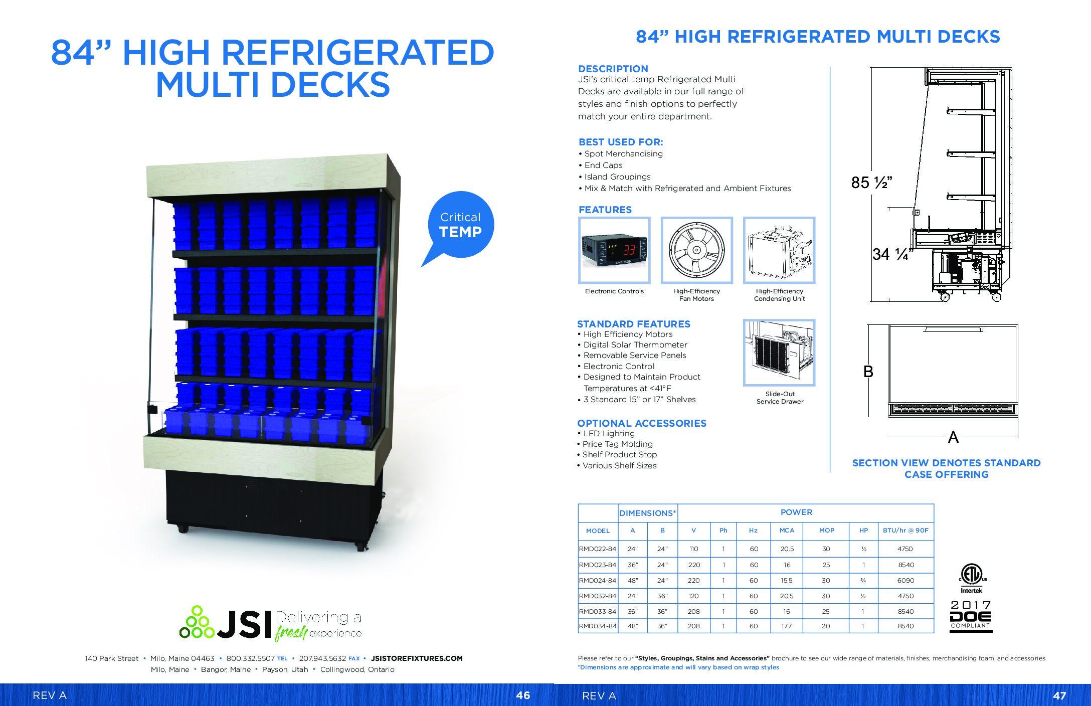 84in High Refrigerated Multi Decks (PDF)