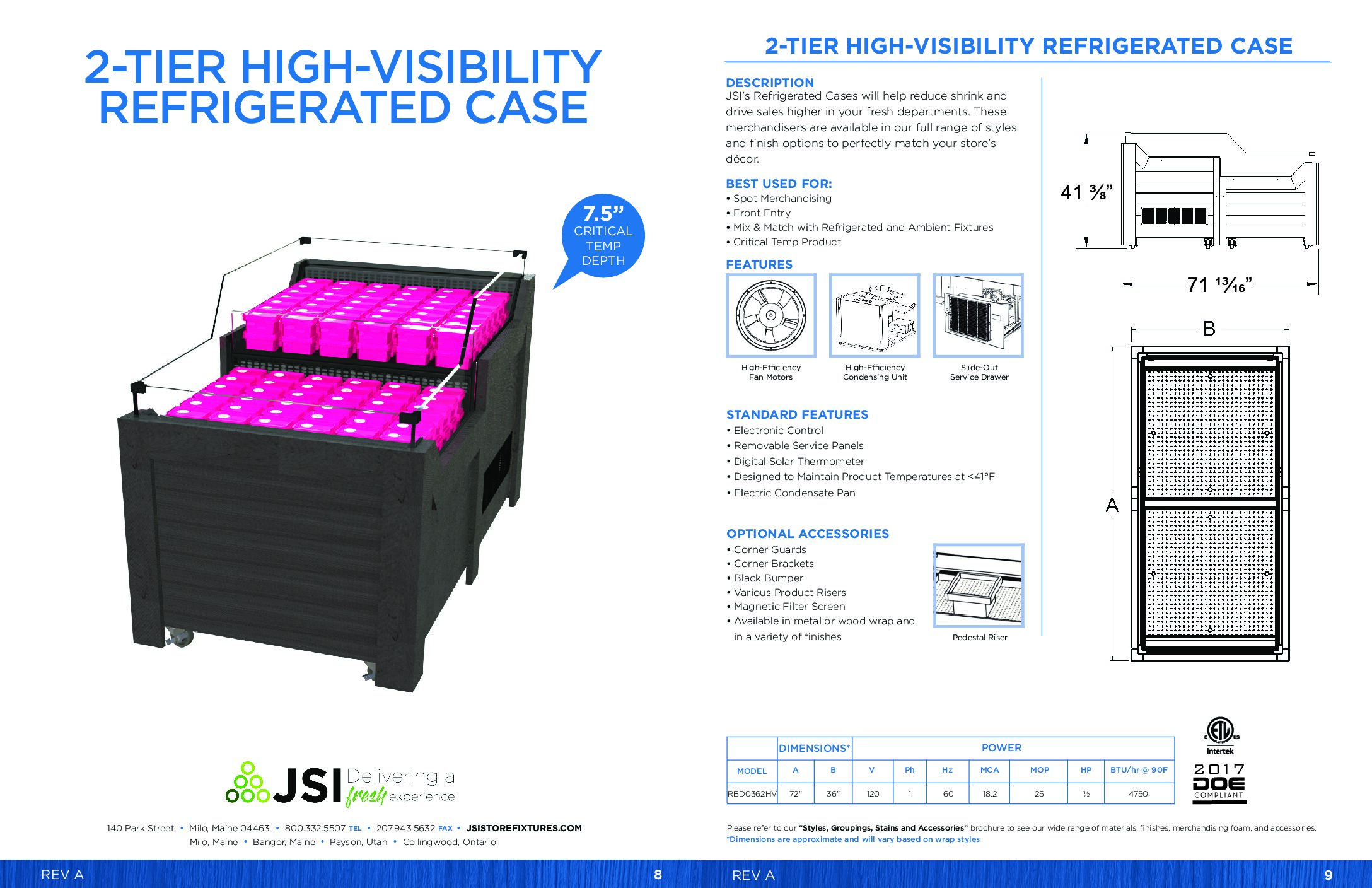 2-Tier High-Visibility Refrigerated Case (3'W) (PDF)
