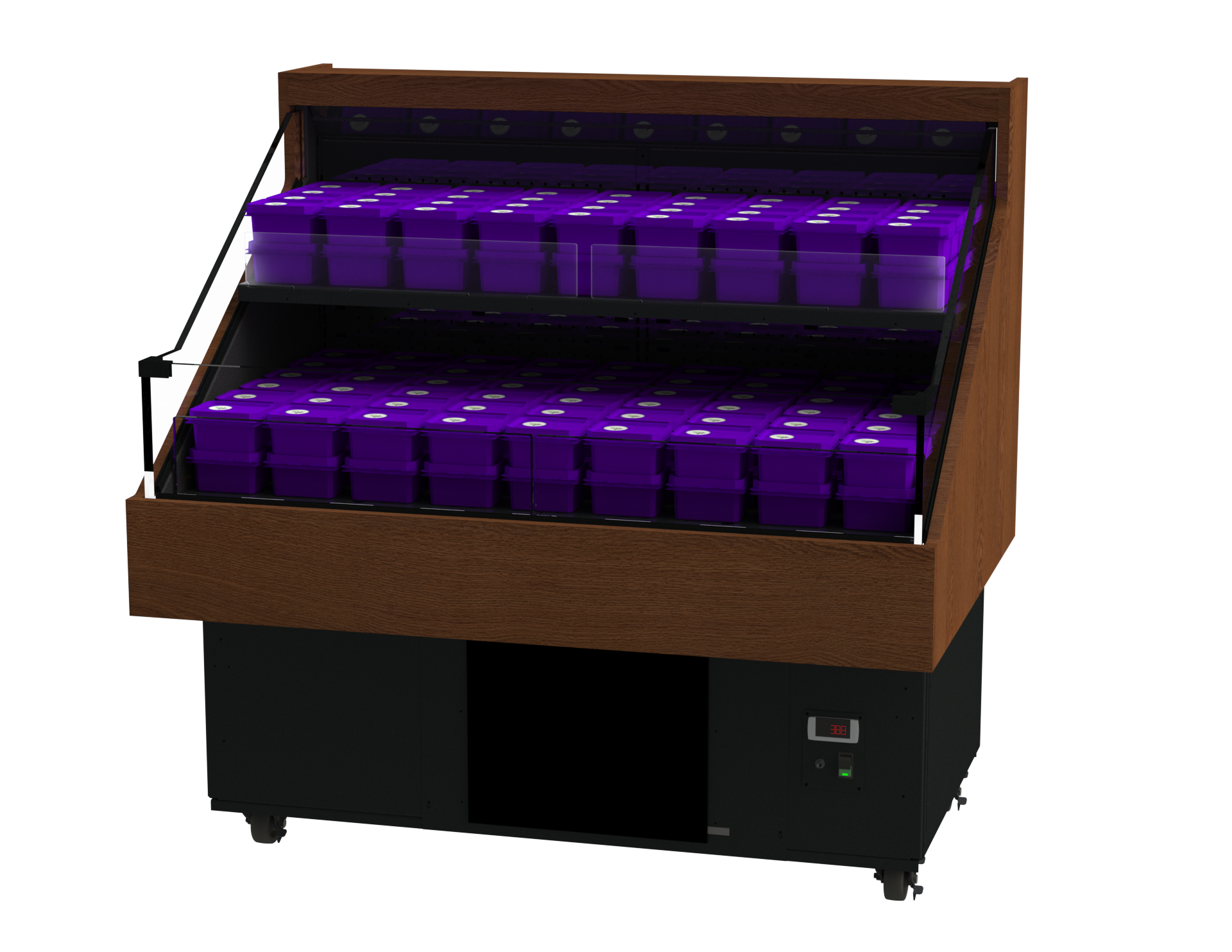 High Profile Refrigerated Slant Cases (2′-4'W)