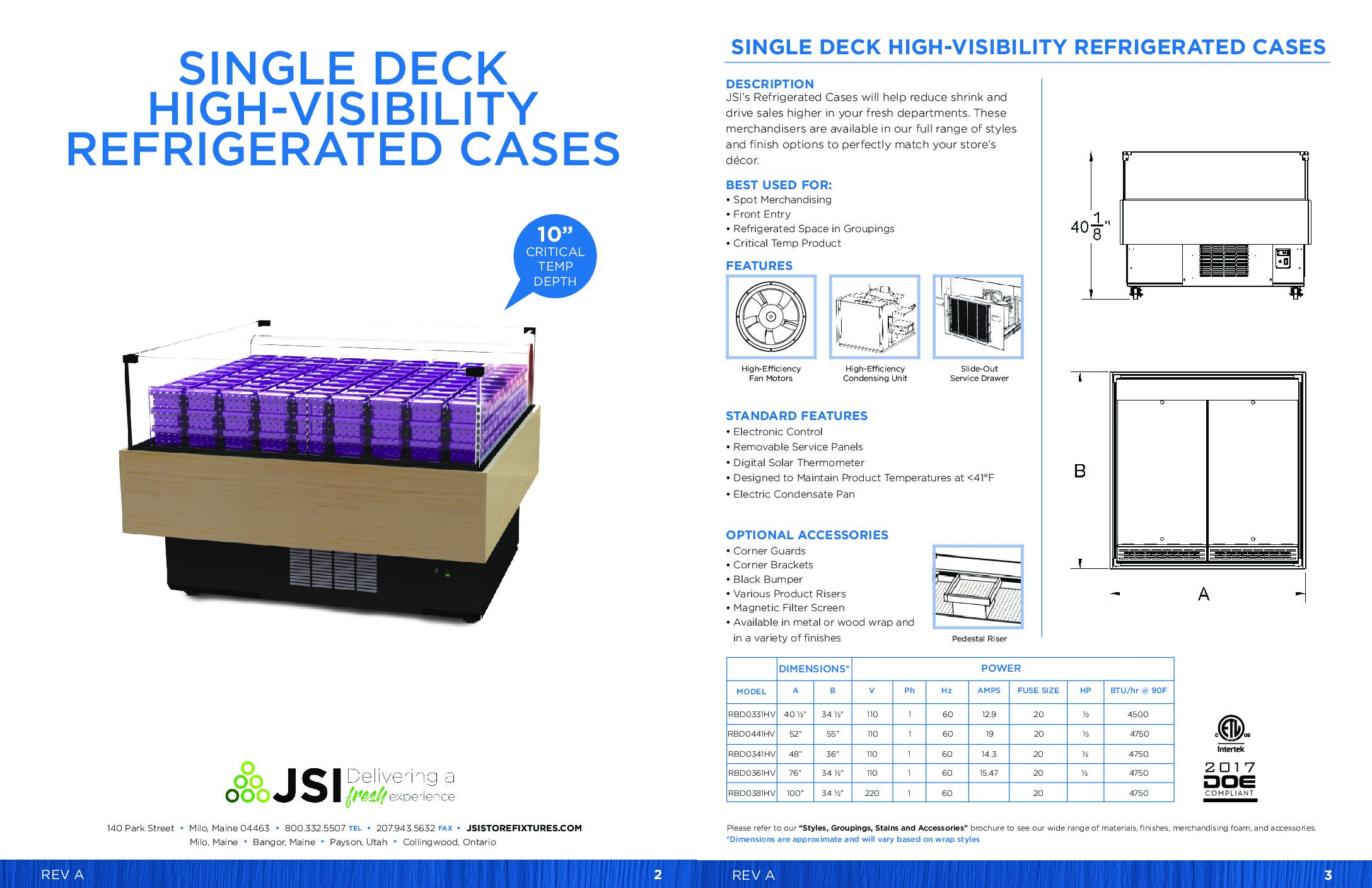 Single Deck High-Visibility Refrigerated Cases PDF