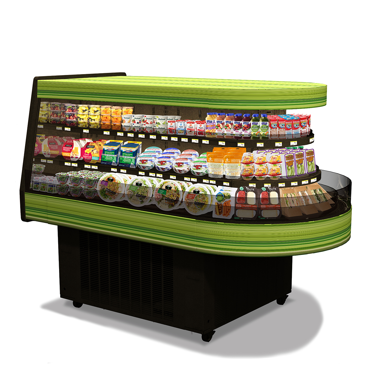 Fresh To Go 3-Sided Round Refrigerated Cases